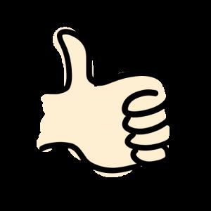 親指を立てた手