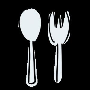 スプーンとフォークのイラスト無料素材