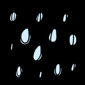 雨のイラスト無料素材