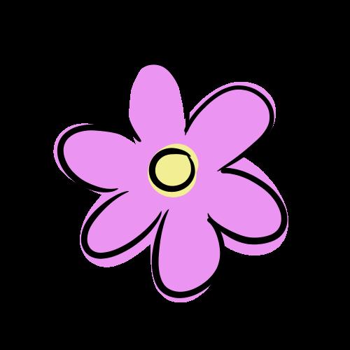 紫色の花のイラスト無料素材