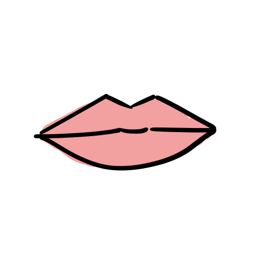 唇のいらすとのフリー素材