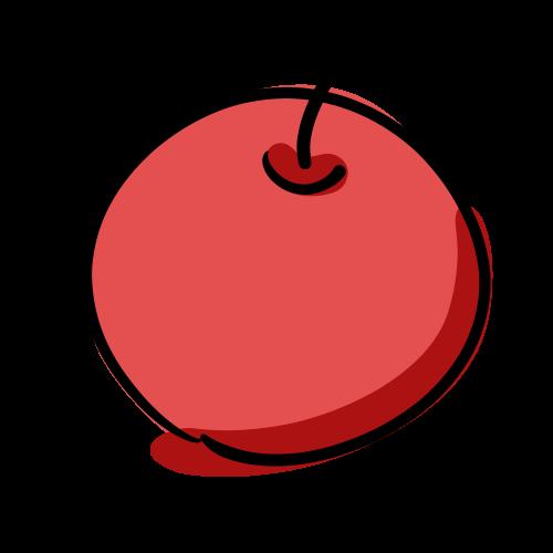 りんごのフリーイラスト素材