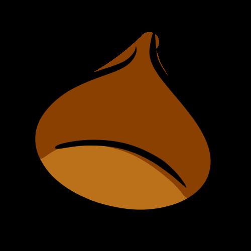 栗のフリーイラスト素材