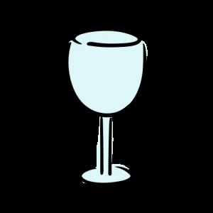 ワイングラスのフリーイラスト素材