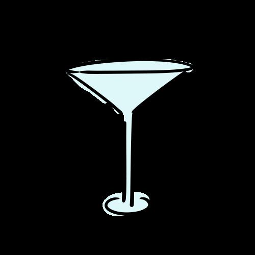 カクテルグラスのフリーイラスト素材
