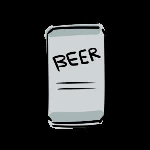 缶ビールのフリーイラスト素材