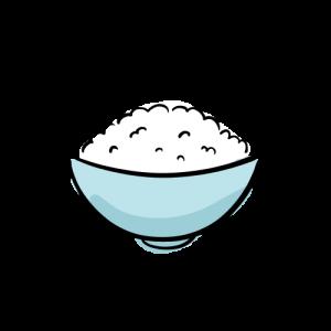 ご飯のフリーイラスト素材