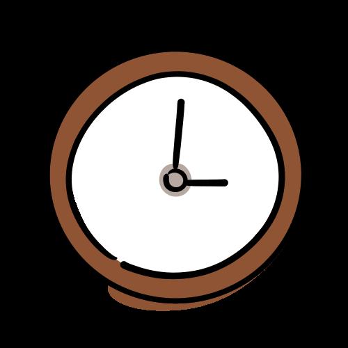 時計のフリーイラスト素材