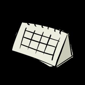 カレンダーのイラストの無料素材