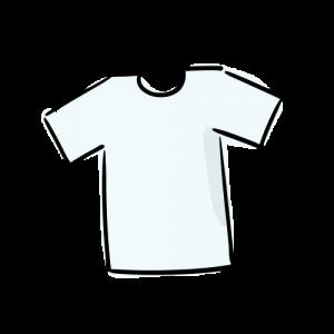 Tシャツのイラストの無料素材