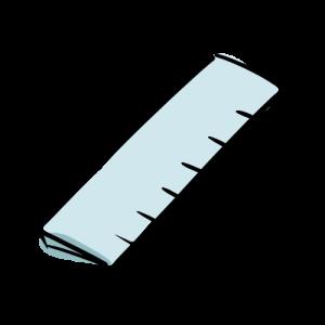 定規の絵のフリー素材