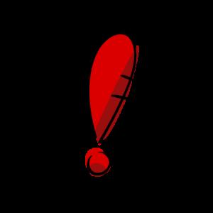 ビックリの絵のフリー素材