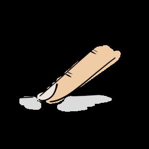 タップの絵のフリー素材