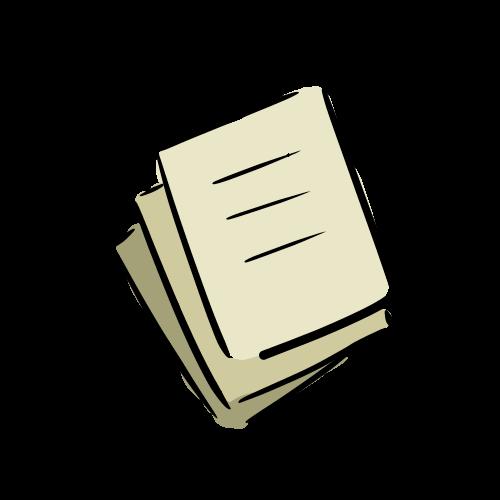 書類の無料イラスト素材