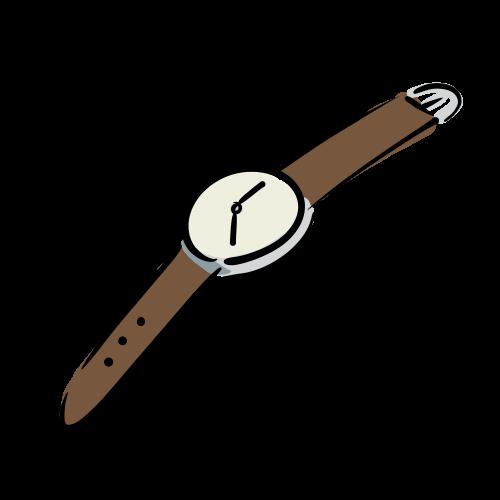 腕時計の無料イラスト素材