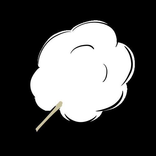 綿あめの無料イラスト素材