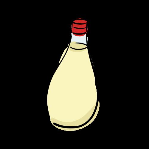 マヨネーズのフリーイラスト素材