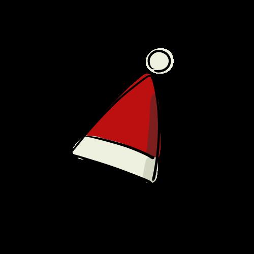サンタの帽子のフリーイラスト素材