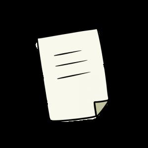 書類のフリーイラスト素材