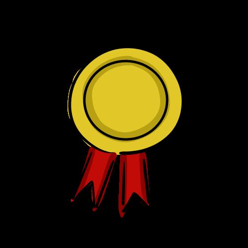 金メダルのイラストのフリー素材