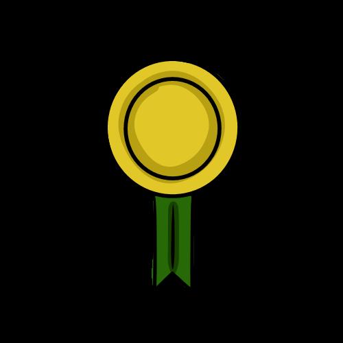 金の勲章のイラストのフリー素材