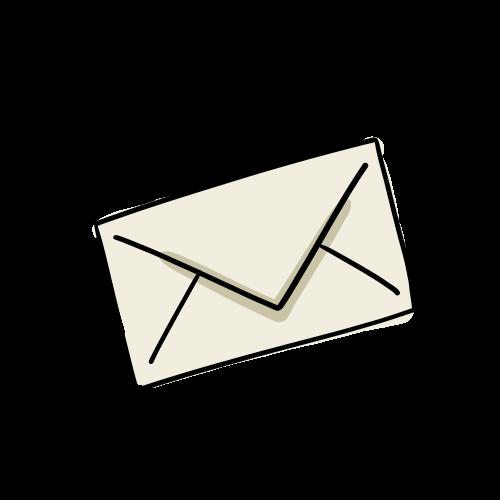 メールのイラストのフリー素材