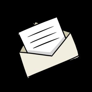 開封済みメールのイラストのフリー素材