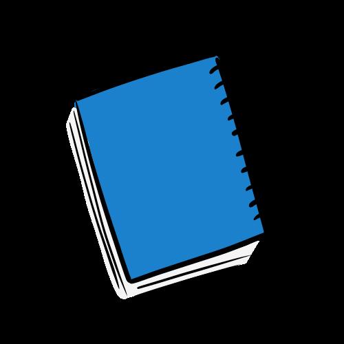 閉じた本のイラストのフリー素材