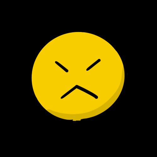 怒る顔の絵のフリー素材