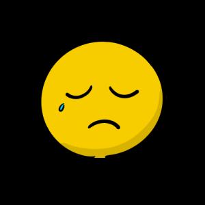 泣く顔の絵のフリー素材