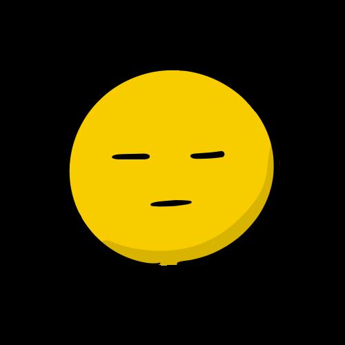 無表情の顔の絵のフリー素材