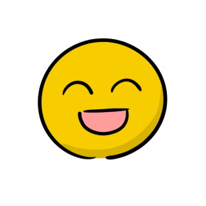 喜ぶ顔の絵のフリー素材