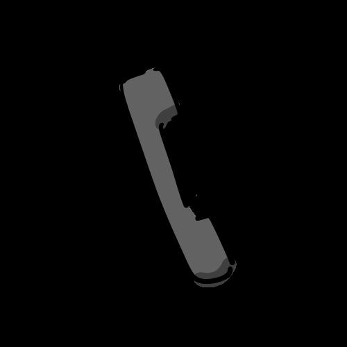 受話器の絵のフリー素材