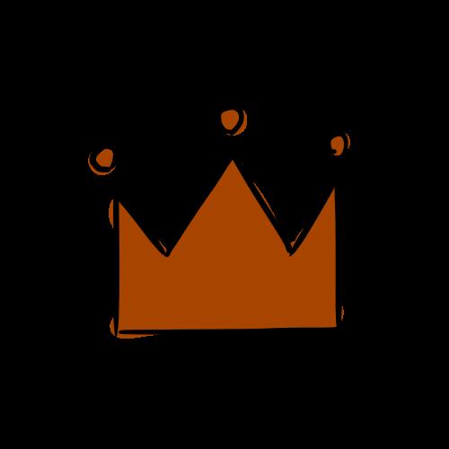 銅の王冠のフリーイラスト素材