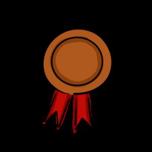 銅メダルのフリーイラスト素材