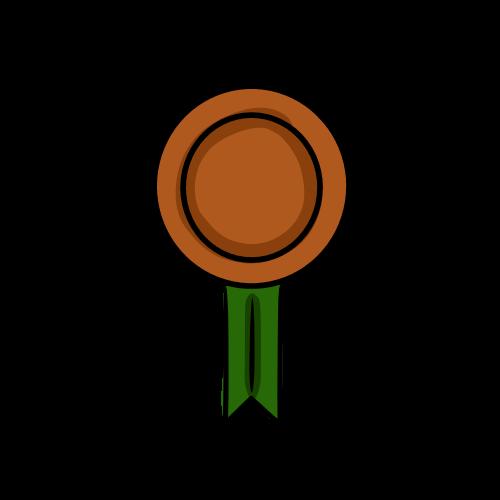 銅の勲章のフリーイラスト素材