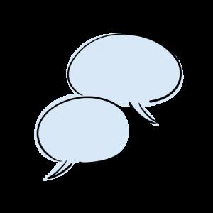 会話のフリーイラスト素材