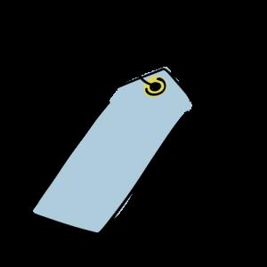 青いタグのフリー素材(無料)