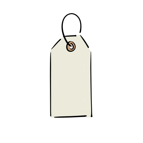 白いタグのフリー素材(無料)