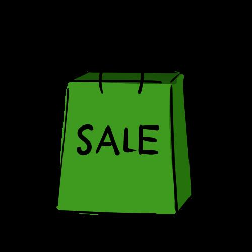 買い物袋のフリー素材(無料)