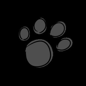 犬の足跡のイラスト素材(フリー)
