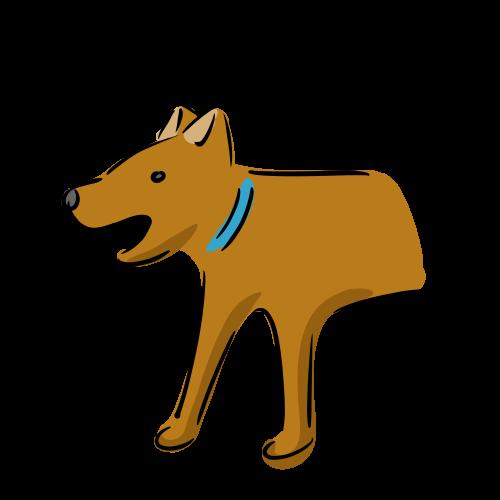 茶色の犬のイラスト素材(フリー)