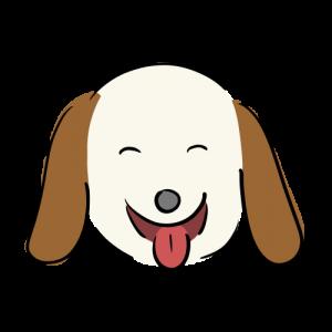 笑う犬のイラスト素材(フリー)