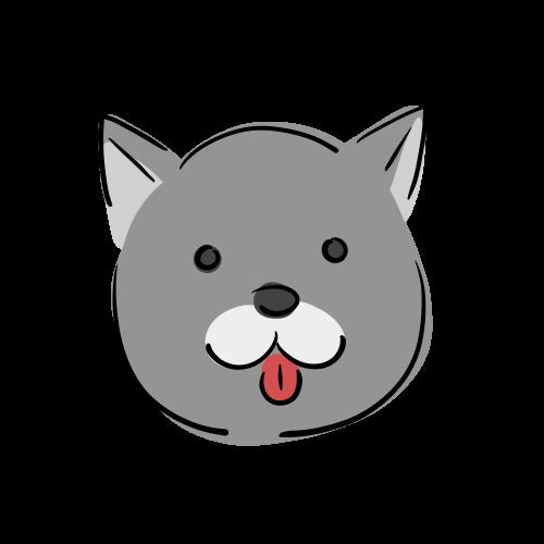 犬の顔のイラスト素材(フリー)
