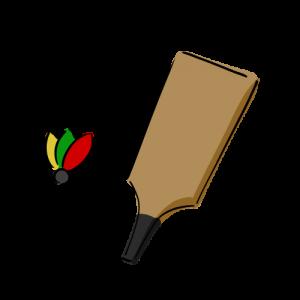 羽子板と羽根の無料イラスト素材