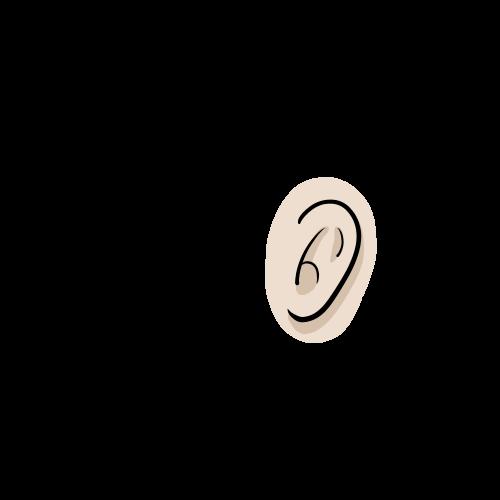 聴覚の無料イラスト素材