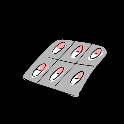 カプセル薬の絵のフリー素材(無料)