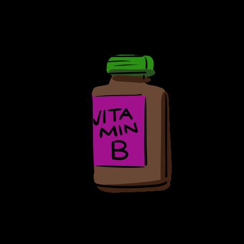 ビタミンBの絵のフリー素材(無料)
