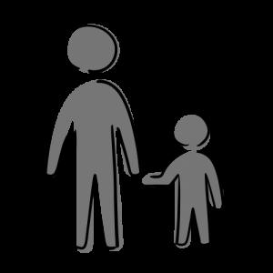 親子のフリーイラスト素材