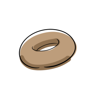 ドーナツのフリーイラスト素材